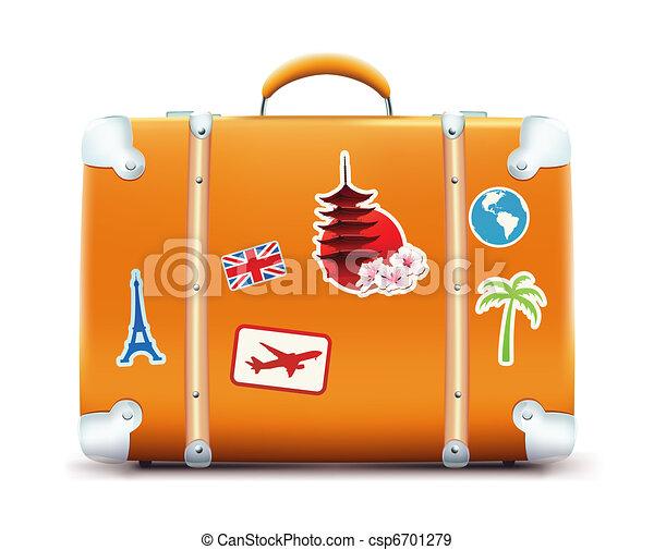 Una maleta de vino - csp6701279