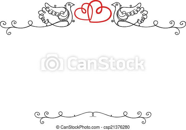 Espacio, vendimia, marco, boda, texto, blanco, corazones, palomas.