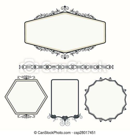 Un marco vintage de adorno - csp28017451