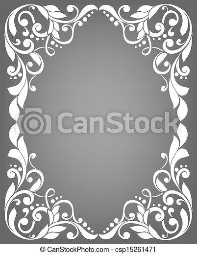 Un marco filigrano antiguo - csp15261471