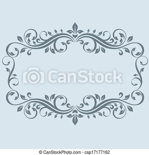 Un marco antiguo con hojas - csp17177162