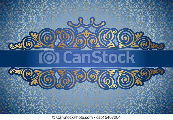 Un marco antiguo de antecedentes de damasco - csp15467204