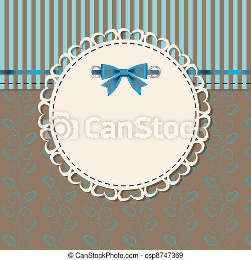 vendimia, marco, vector, ilustración, arco - csp8747369