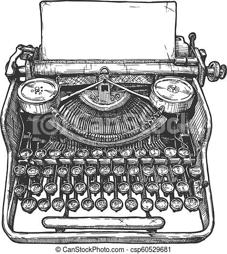 Una antigua máquina de escribir mecánica - csp60529681