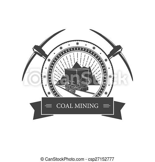 Un antiguo emblema de la industria minera - csp27152777