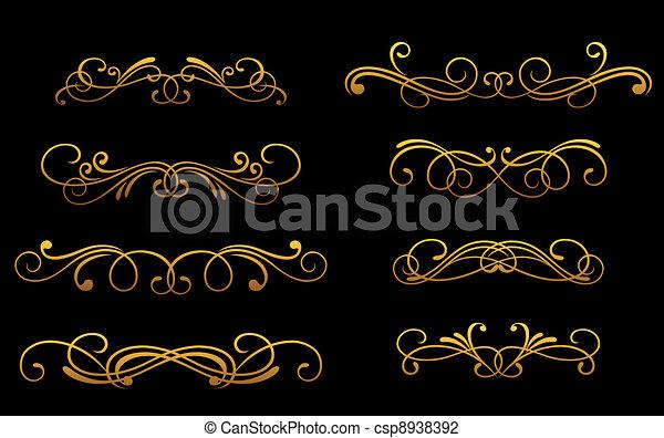 Monogramas dorados - csp8938392