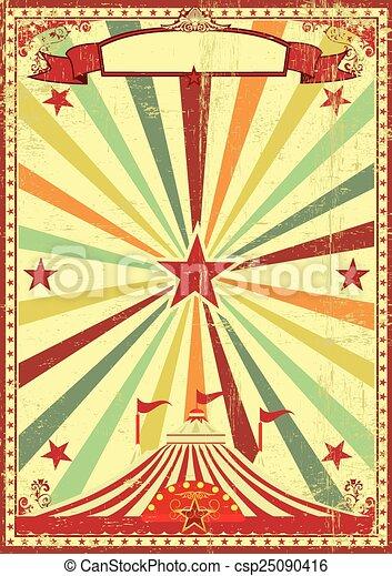 Antecedentes de rayos de sol del circo Multicolor - csp25090416