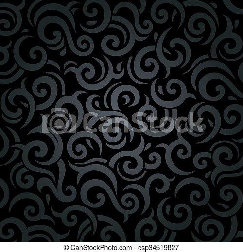 Antecedentes vintage de lujo negro - csp34519827