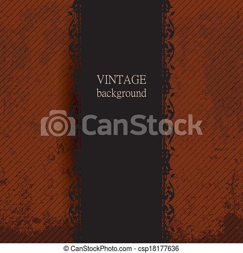 Antecedentes antiguos con adorno dorado - csp18177636