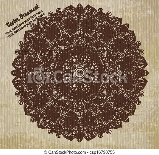 Antecedentes de ornamento étnico - csp16730755