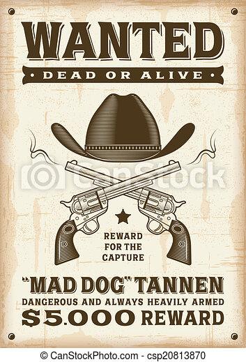 Antage Western quería un póster - csp20813870