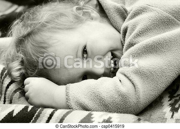 vendimia, reír, niño - csp0415919