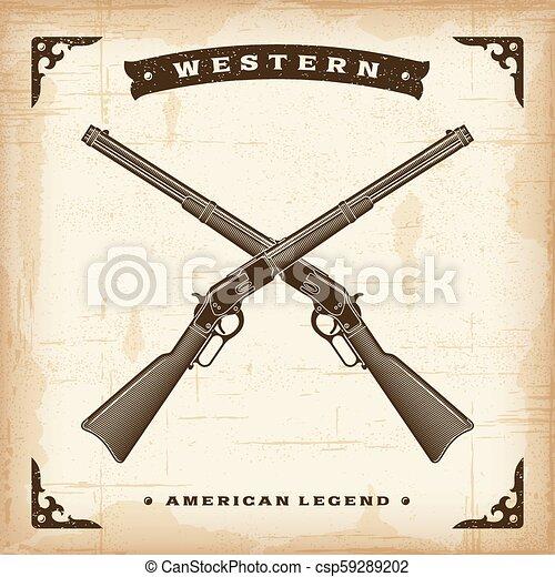 Rifles occidentales antiguos - csp59289202