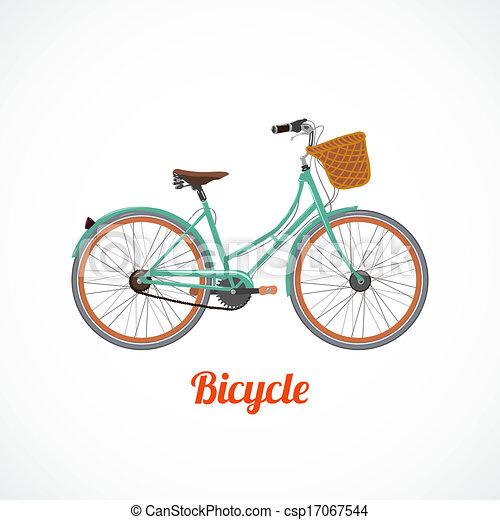 vendimia, símbolo, bicicleta - csp17067544