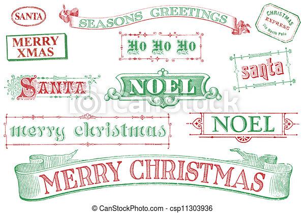 estampillas de navidad antiguas - csp11303936