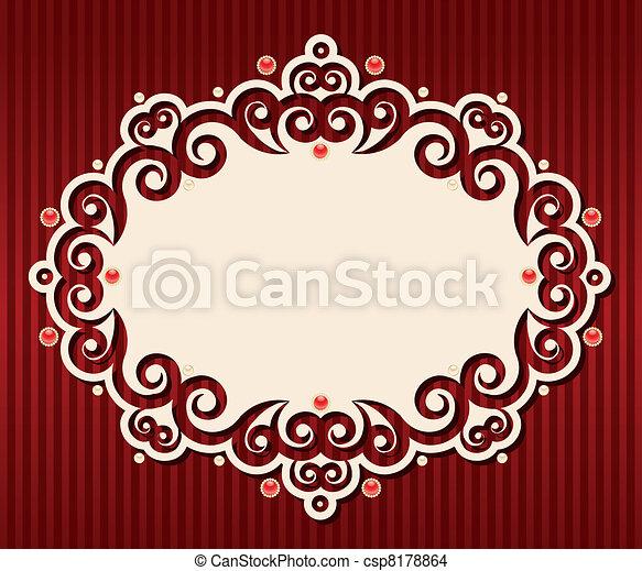 Un fondo de tapicería. - csp8178864