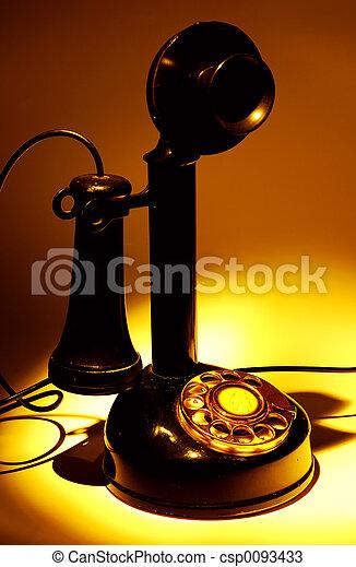 Teléfono de vintage - csp0093433