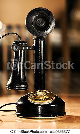 Teléfono de vintage - csp0858377