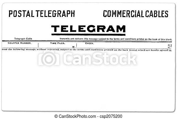 vendimia, telegrama - csp2075200