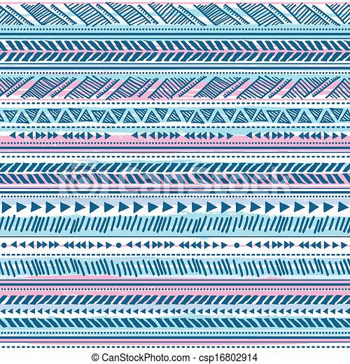 Patrón étnico de cosecha tribal sin costura - csp16802914