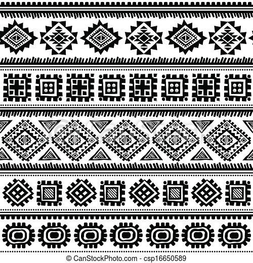 Patrón étnico de cosecha tribal sin costura - csp16650589
