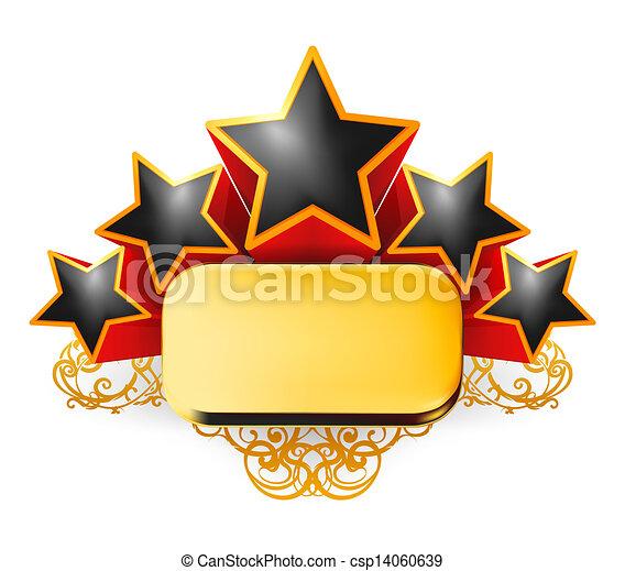 Un emblema antiguo, vector - csp14060639