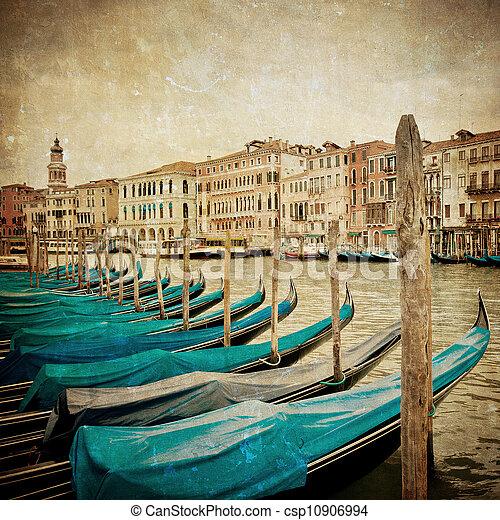 Una imagen antigua del gran canal, Venice - csp10906994