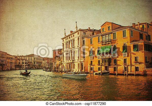 Una imagen antigua del gran canal, Venice - csp11877290