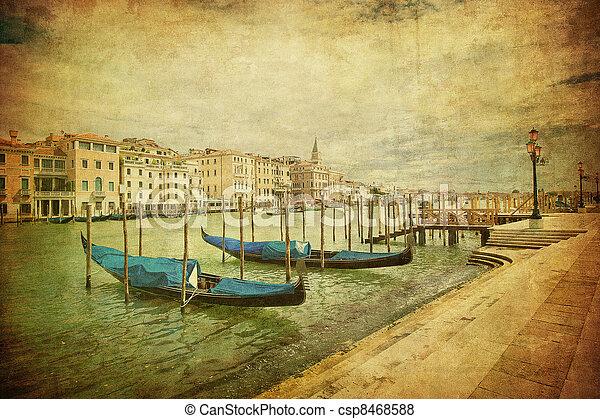 Una imagen antigua del gran canal, Venice - csp8468588