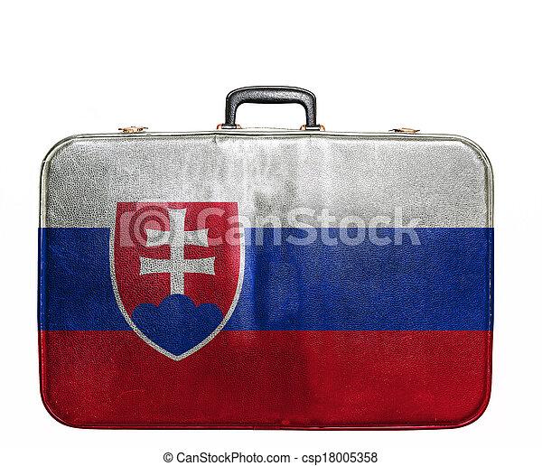 Vendimia viaje bandera de eslovaquia bolsa im genes de archivo buscar fotos de archivo - Banera de viaje ...