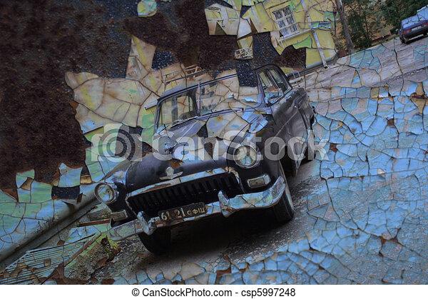 Añejado fondo de autos. - csp5997248