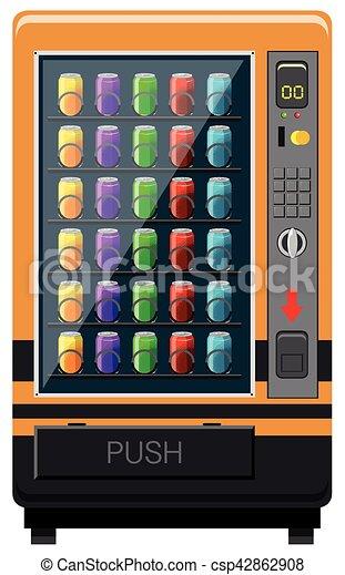 vending machines with soft drinks illustration rh canstockphoto com Snack Vending Machine Clip Art clipart vending machine