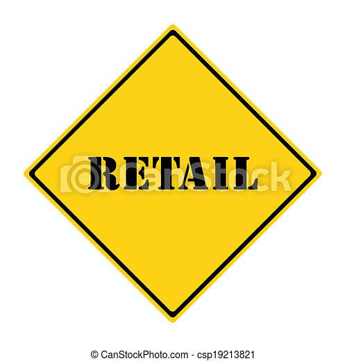 vendita dettaglio, segno - csp19213821