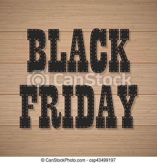 vendredi, arrière-plan noir, bois, texte, ombre - csp43499197