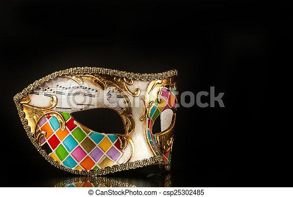 Al estilo arlequín de máscara veneciana - csp25302485