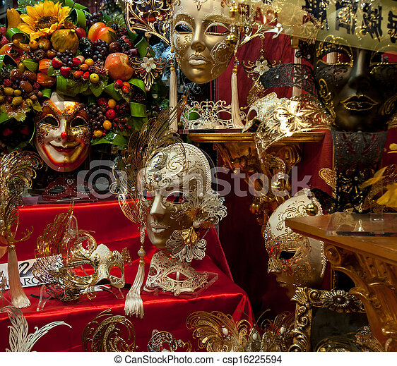 Máscaras venecianas - csp16225594