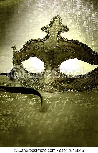 Máscara de carnaval veneciana - csp17842845
