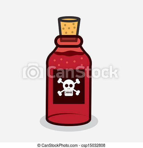 Una botella de veneno - csp15032808