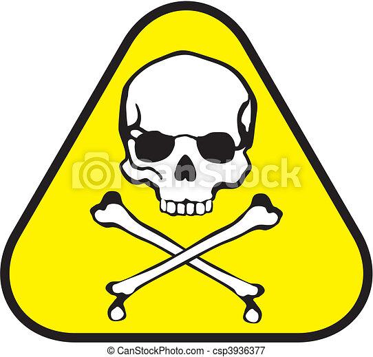 Una etiqueta venenosa - csp3936377
