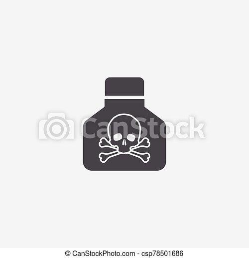 veneno, icono - csp78501686