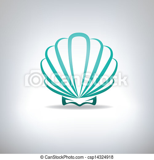 Scallop Seashell.  - csp14324918