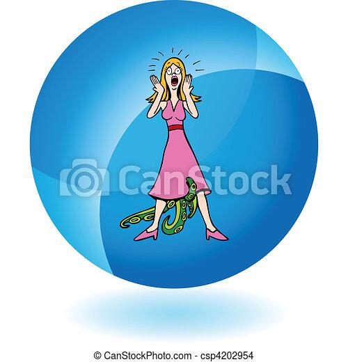 Venereal Diseased Woman - csp4202954
