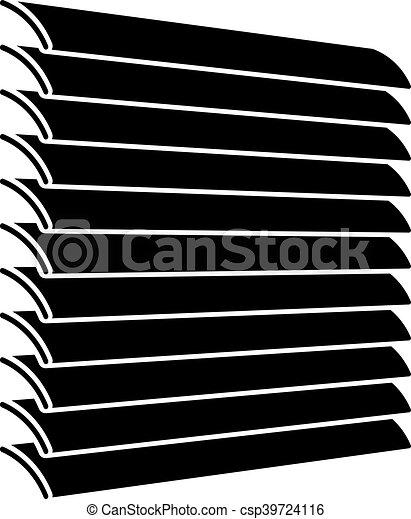 Venetian Blinds Black Symbol Illustration For The Web