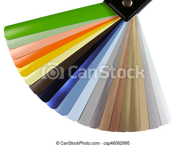 Venetian Blinds Color Chart Isolated On White