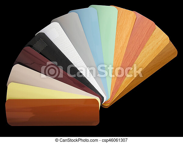 Venetian Blinds Color Chart Isolated On Black