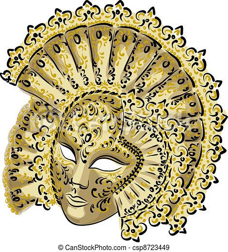Venetian carnival mask.  - csp8723449