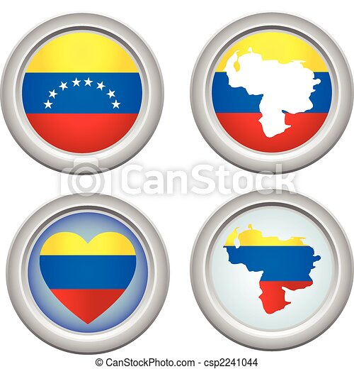 Venezuela Buttons - csp2241044