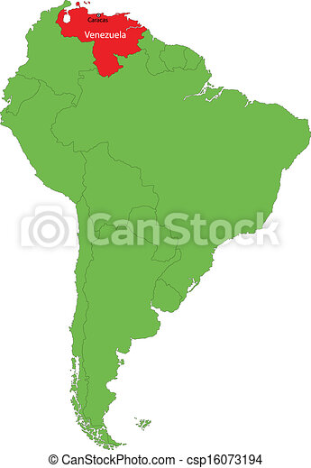 venezuela karta Venezuela map. Location of venezuela on the south america. venezuela karta