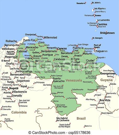 Venezuela-World-Countries-VectorMap-A