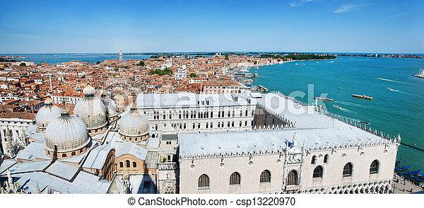 Venice cityscape - view from Campanile di San Marco. Italy - csp13220970